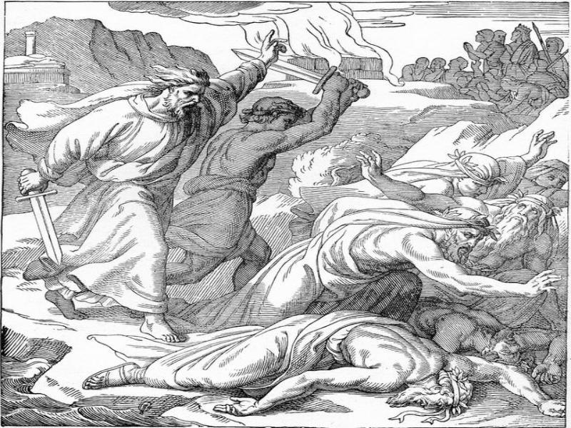Elias mata a los profetas de Baal